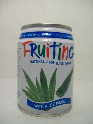 250ml aloe drink in short can
